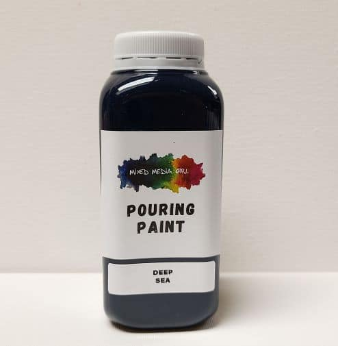 Navy Blue Acrylic Pouring Paint