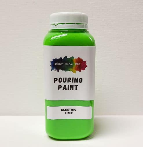 Lime Green Acrylic Pouring Paint