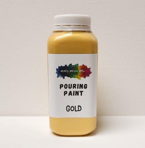 Gold Acrylic Pouring Paint